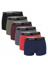Gomati Herren Cotton Pants mit Logo (6er Pack), Retro Boxershorts aus Baumwoll-Stretch - Metropolis