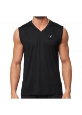 CFLEX Herren Sport Shirt Fitness Muscle-Shirt Sportswear Collection - Schwarz