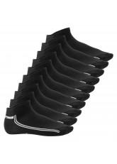 Footstar Damen & Herren Motiv Sneaker Socken (10 Paar) - Schwarz