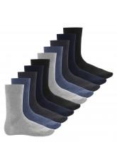 Footstar Herren Baumwollsocken (10 Paar), handgekettelte flache Spitze - Everyday! - Jeans
