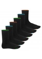 6 Paar warme und weiche Neon Glow Vollfrottee Thermo-Socken für Damen und Herren