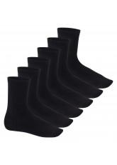 Feine Wollsocken - Business Socken für Damen und Herren - 6 Paar - schwarz
