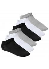footstar - 6 Paar Sneakersocken für Damen und Herren mit Funktion - schwarz-grau-weiß mix
