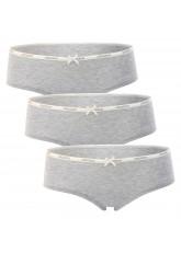 Celodoro Lady Underwear - 3er Pack Panty - Grau