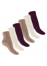 6 Paar EVERYDAY! Kuschelsocken Burgundy Wedding