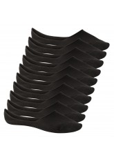 10 Paar Footstar Unisex Sneak-it! Füßlinge Footies - schwarz