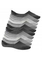 10 Paar Footstar Unisex Sneak-it! Füßlinge Footies - classic grey