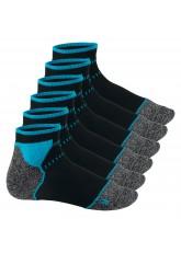 Footstar Sport Function Running Socks - 6 Paar Sportsocken - schwarz-blau