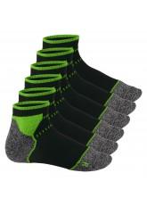 Footstar Sport Function Running Socks - 6 Paar Sportsocken - schwarz-grün