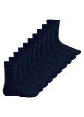 Footstar Herren & Damen Baumwollsocken (10 Paar), Klassische Socken aus Baumwolle - Everyday! - Marine