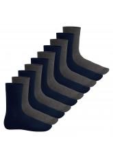 Footstar Herren & Damen Baumwollsocken (10 Paar), Klassische Socken aus Baumwolle - Everyday! - Marine-anthra