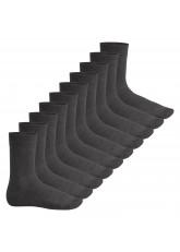 Footstar Herren & Damen Baumwollsocken (10 Paar), Klassische Socken aus Baumwolle - Everyday! - Anthrazit