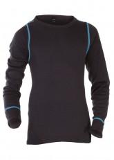 CFLEX Kinder Ski- & Thermohemd - warme Unterwäsche lang POLARDRY - Schwarz-Blau
