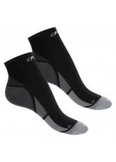 CFLEX Herren & Damen Sport Kompressionssocke (2 Paar), Kurzschaft Socken - Schwarz-Grau