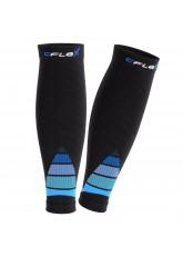 CFLEX Herren & Damen Sport Kompressions Stulpe (1 Paar), Wadenbandage  - Schwarz-Blau