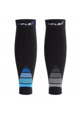 CFLEX Herren & Damen Sport Kompressions Stulpe (2 Paar), Wadenbandage - Schwarz-Blau und Grau Mix
