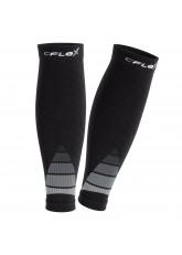 CFLEX Herren & Damen Sport Kompressions Stulpe (1 Paar), Wadenbandage  - Schwarz-Grau