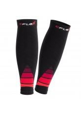 CFLEX Herren & Damen Sport Kompressions Stulpe (1 Paar), Wadenbandage  - Schwarz-Rot