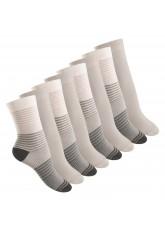 8 Paar Damen Socken in 3 Farbvarianten von Footstar Grau