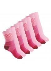 8 Paar Damen Socken in 3 Farbvarianten von Footstar Pink