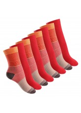 8 Paar Damen Socken in 3 Farbvarianten von Footstar Orange Rot