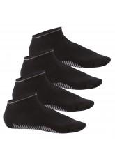 4 Paar Herren Sneaker Socken Smart Walk schwarz