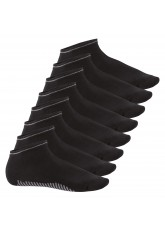 8 Paar Sneaker Socken Smart Walk - schwarz