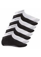 8 Paar Sneaker Socken Smart Walk - Schwarz-Weiß Mix
