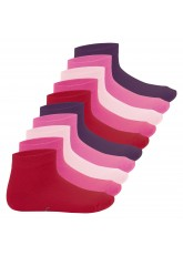 10 Paar SNEAK IT! KIDS Kurzschaft Socken - Berry-Farben