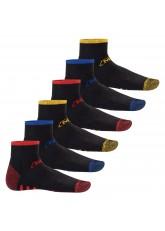 MT Herren Arbeits- und Freizeitsocken (6 Paar), Robuste Work Kurzschaft Socken - Schwarz