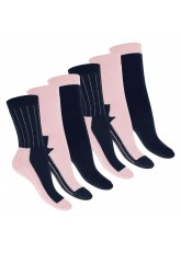 Footstar Damen Wintersocken (6 Paar), Warme Vollfrottee Socken mit Thermo Effekt - Navy Rosa