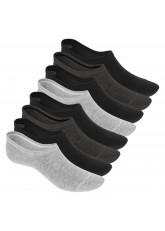 Footstar Damen und Herren Eco Füßlinge (8 Paar), Sneaker Socken aus EcoVero Viskose – Black Mix