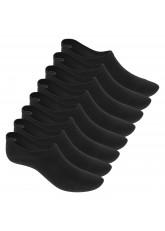 Footstar 8 Paar Sneaker-Socken Lenzing Viscose - Schwarz