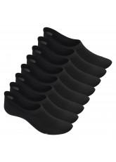 Footstar Damen und Herren Eco Füßlinge (8 Paar), Sneaker Socken aus Bambus Viskose – Schwarz