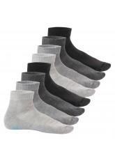 8 Paar Sneak-it! Kurzschaft Frottee-Sohle - Classic Grey