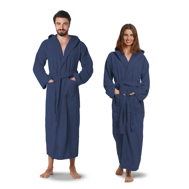 Bademantel Unisex Morgenmantel 100% Ägyptische Baumwolle Herausragende Eigenschaften Hand-, Bade- & Saunatücher